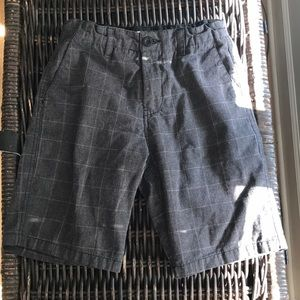 Boys gray graph shorts